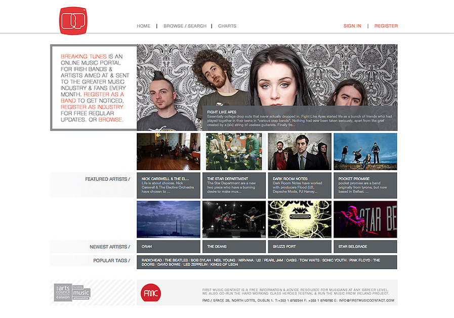 A great web design by iorum, Dublin, Ireland: