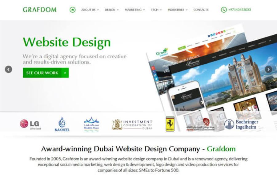 A great web design by Grafdom, Dubai, United Arab Emirates: