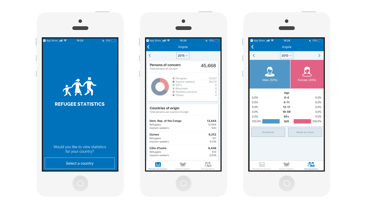 A great web design by Hexis, Rijeka, Croatia: Mobile App , Social/Community , Non Profit , iOS (Objective-C)