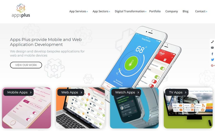 A great web design by Apps Plus, Coventry, United Kingdom: