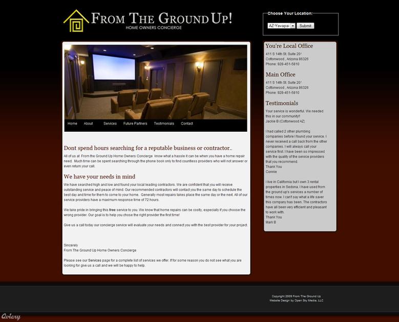 A great web design by Open Sky Media, LLC, Phoenix, AZ: