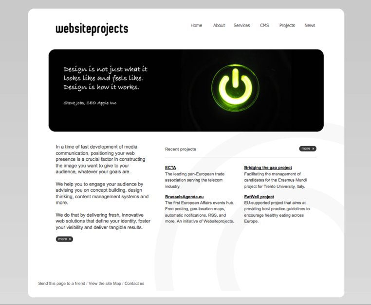 A great web design by websiteprojects, Brussels, Belgium: