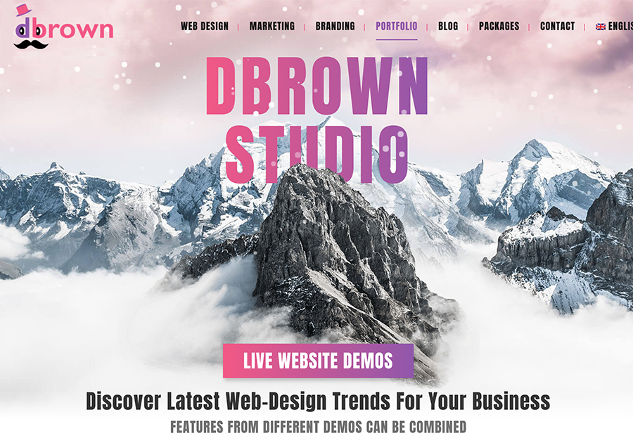 A great web design by DBrown Studio, New York, NY: