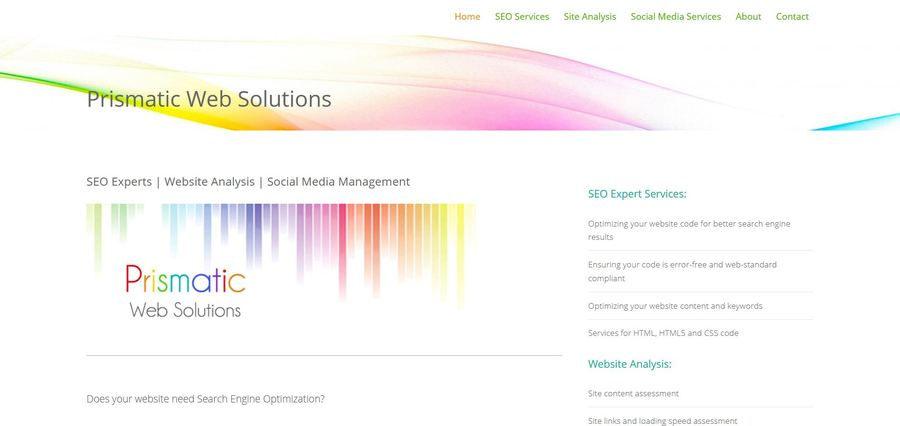 A great web design by Prismatic Web Solutions, Vancouver, Canada: