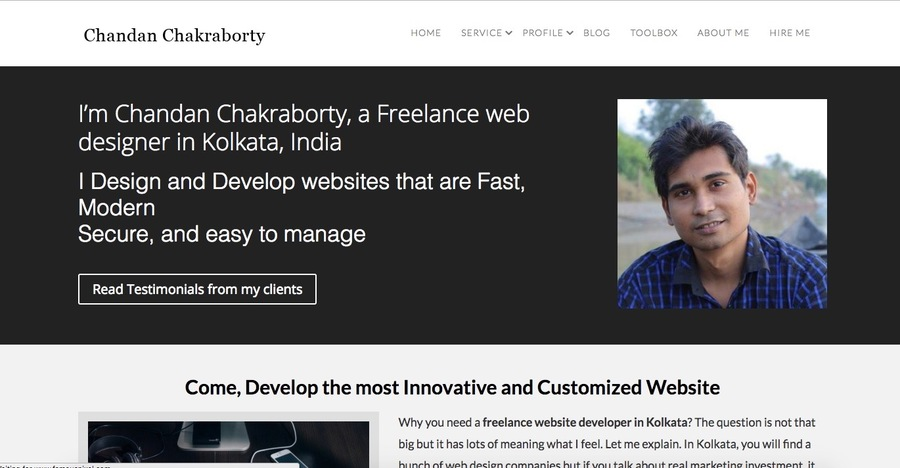 A great web design by Chandan Chakraborty | Website designer in Kolkata, Kolkata, India: