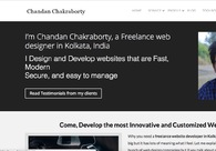 A great web design by Chandan Chakraborty | Website designer in Kolkata, Kolkata, India: