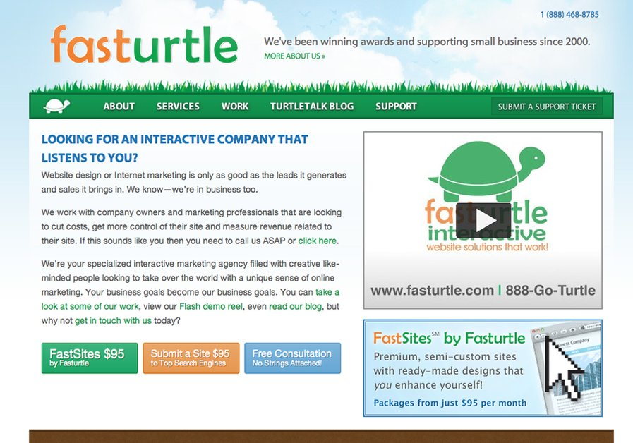 A great web design by fasturtle, Phoenix, AZ: