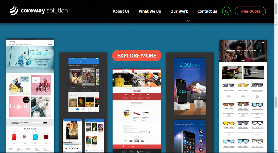 A great web design by Coreway Solution, Ahmedabad, India: