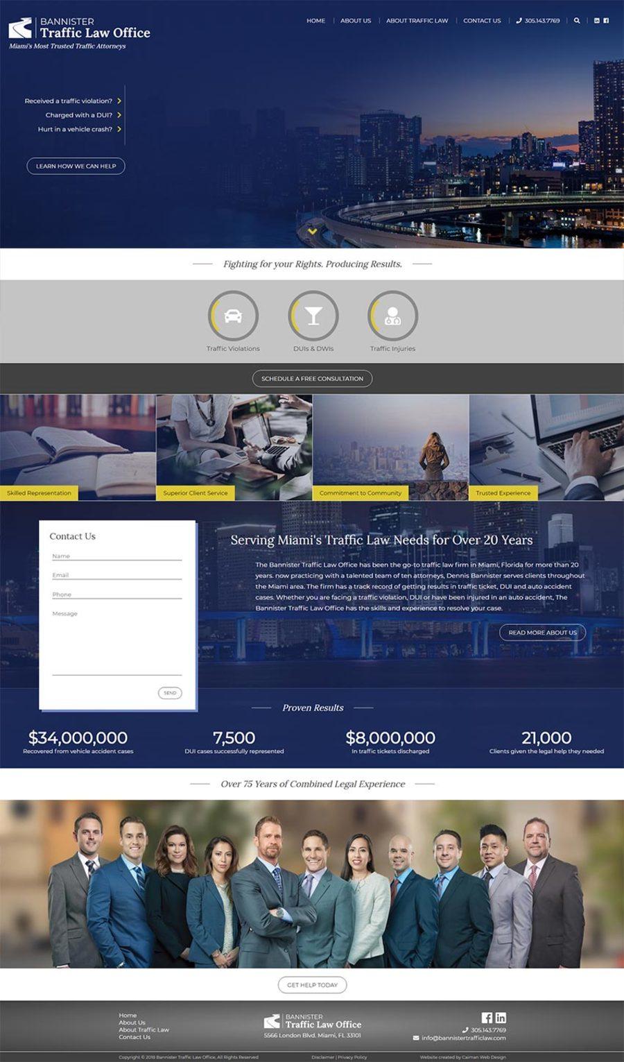 A great web design by Caiman Web Design, Kansas City, MO: Responsive Website, Marketing Website , Legal , Wordpress