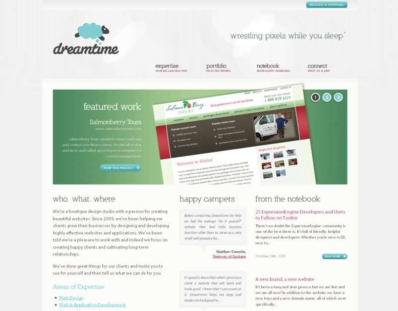 A great web design by Dreamtime, Seattle, WA: