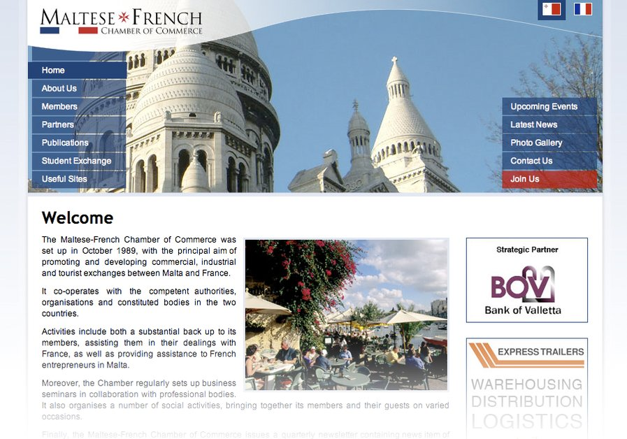 A great web design by Richard A. Muscat, Cambridge, United Kingdom: