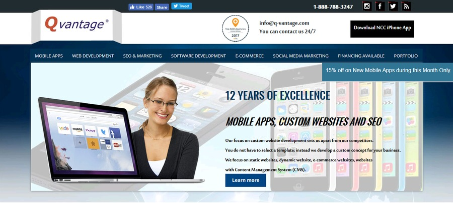A great web design by Q-vantage, Riverside, CA: