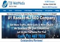 A great web design by NJ SEO Company | TJB WebMedia, Piscataway, NJ: