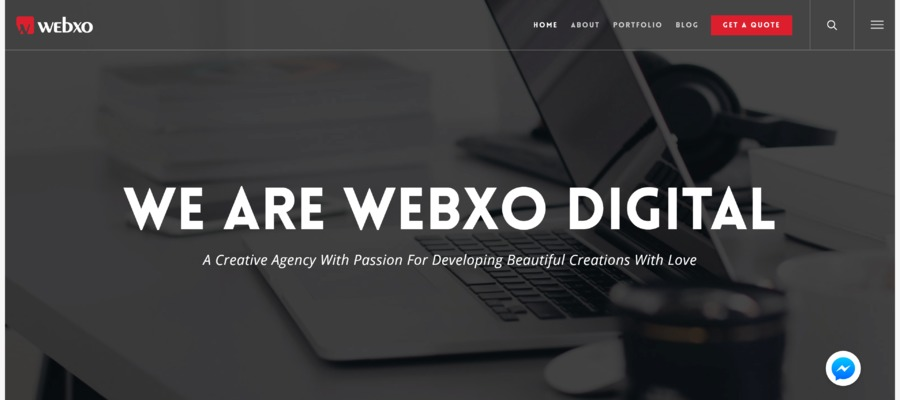 A great web design by Webxo Digital, Dhaka, Bangladesh: