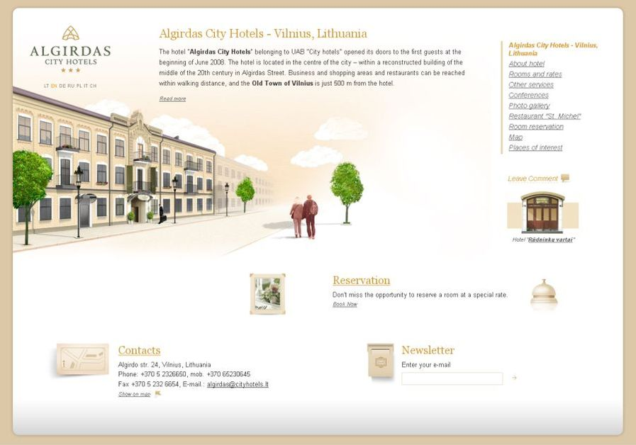 A great web design by IDEA, Vilnius, Lithuania: