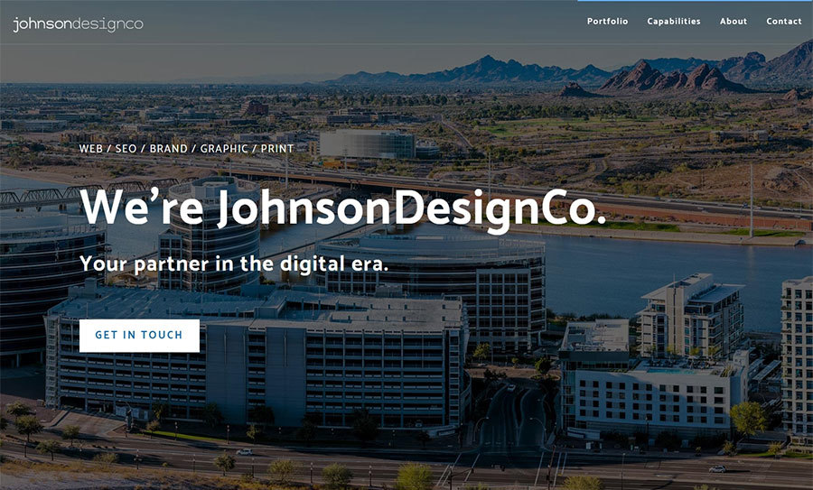 A great web design by JohnsonDesignCo, Phoenix, AZ: