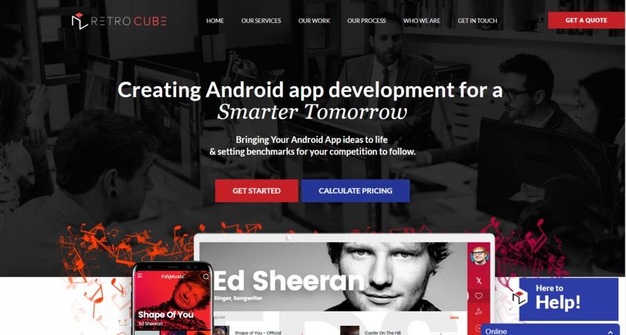 A great web design by Retro Cube, Dallas, TX: