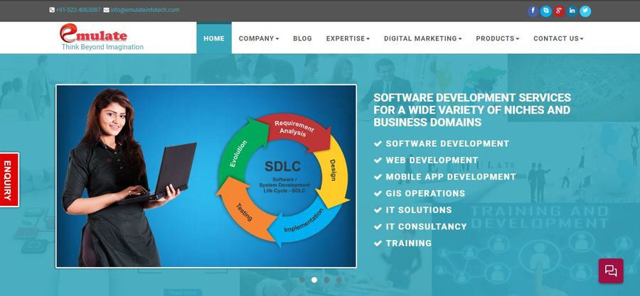 A great web design by Emulate infotech Pvt. Ltd, Lucknow, India: