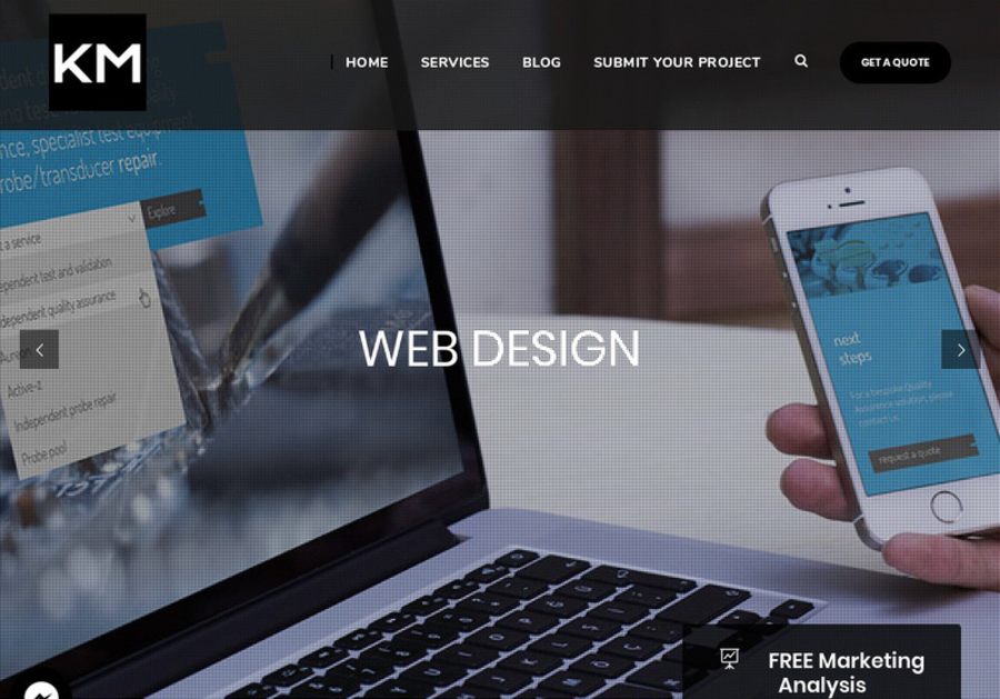 A great web design by Kinect Marketing, Miami, FL: