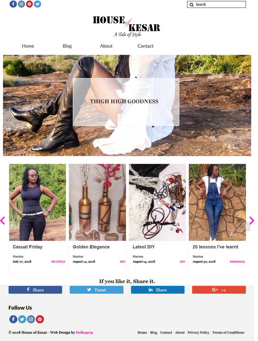 A great web design by Dollaqorp, Nairobi, Kenya: