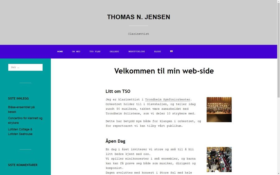 A great web design by Thomas N. Jensen, Trondheim, Norway: