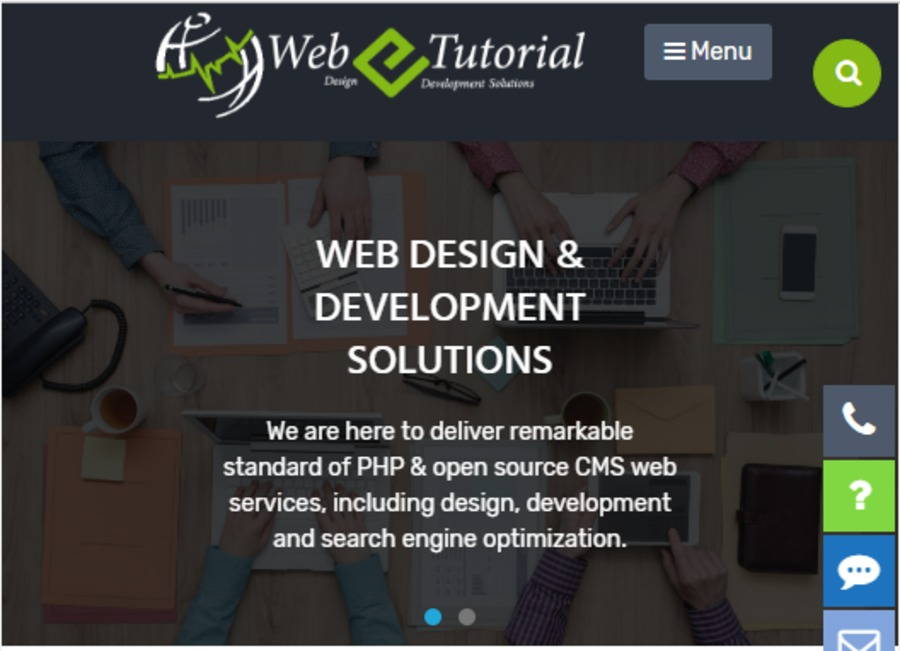A great web design by webetutorial web development and seo services, Jaipur City, India: