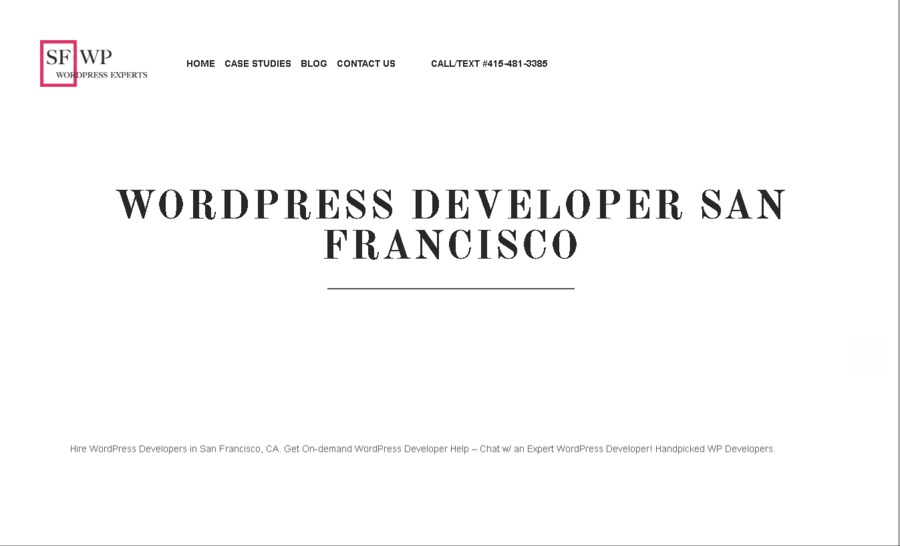 A great web design by SFWP Wordpress Experts, San Francisco, CA: