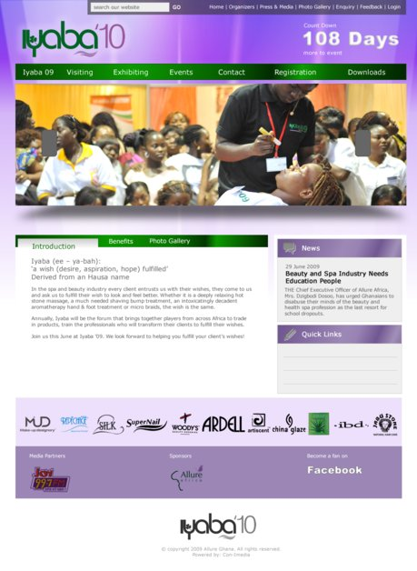 A great web design by n-Qube Creative, Accra, Ghana: