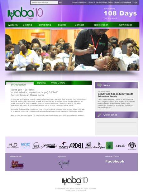 A great web design by n-Qube Creative, Accra, Ghana: