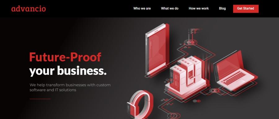 A great web design by Advancio, Los Angeles, CA: