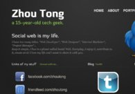 A great web design by Zhou Tong, Singapore, Singapore: