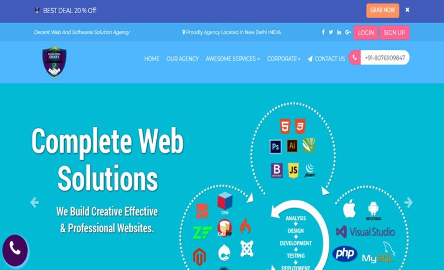 A great web design by AKASH DAYAL GROUPS, Delhi, India: