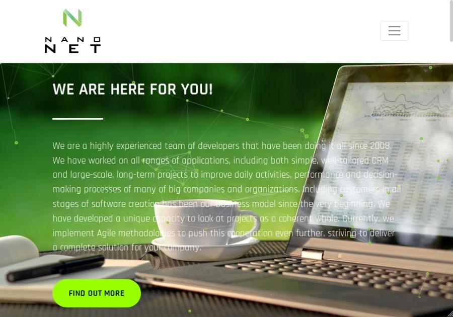 A great web design by NanoNet, Warsaw, Poland: