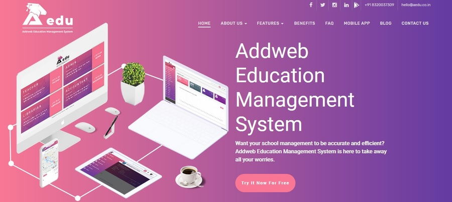 A great web design by AddWeb Solution, Ahmedabad, India: Website, Web Application , Education , Wordpress