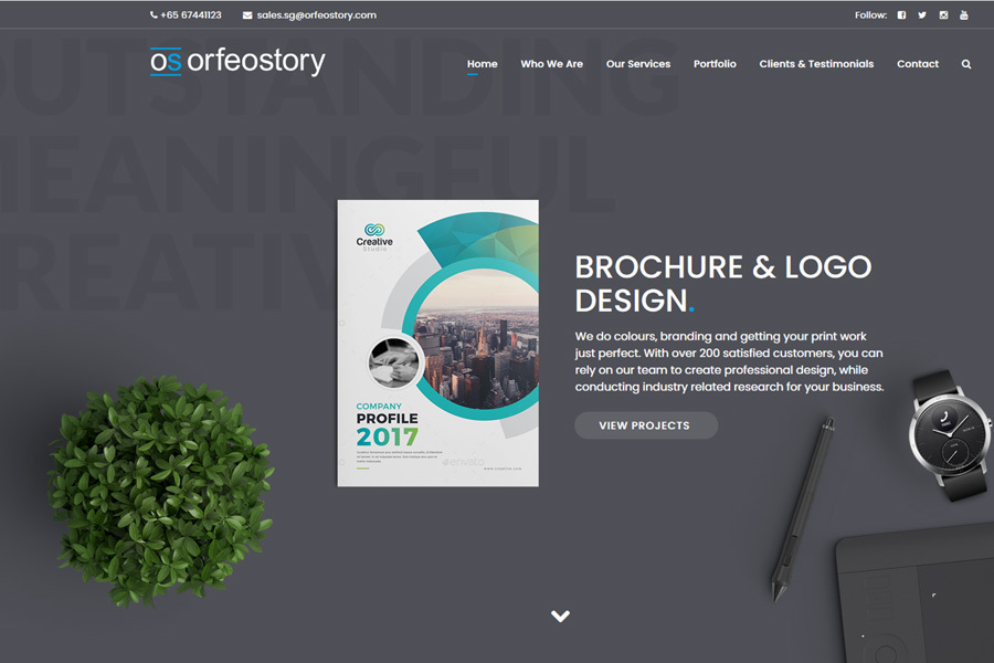 A great web design by Orfeostory, Singapore, Singapore: