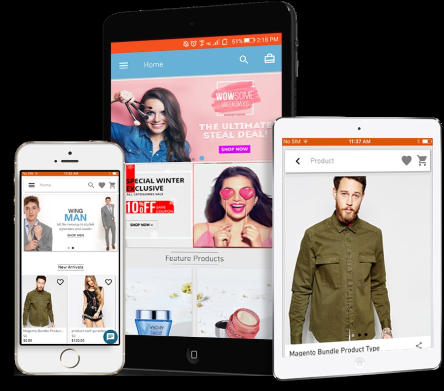 A great web design by Knowband - Magento Mobile App Development, Noida, India: