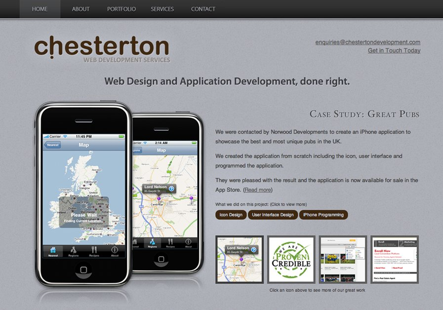 A great web design by Chesterton Development, Portsmouth, United Kingdom: