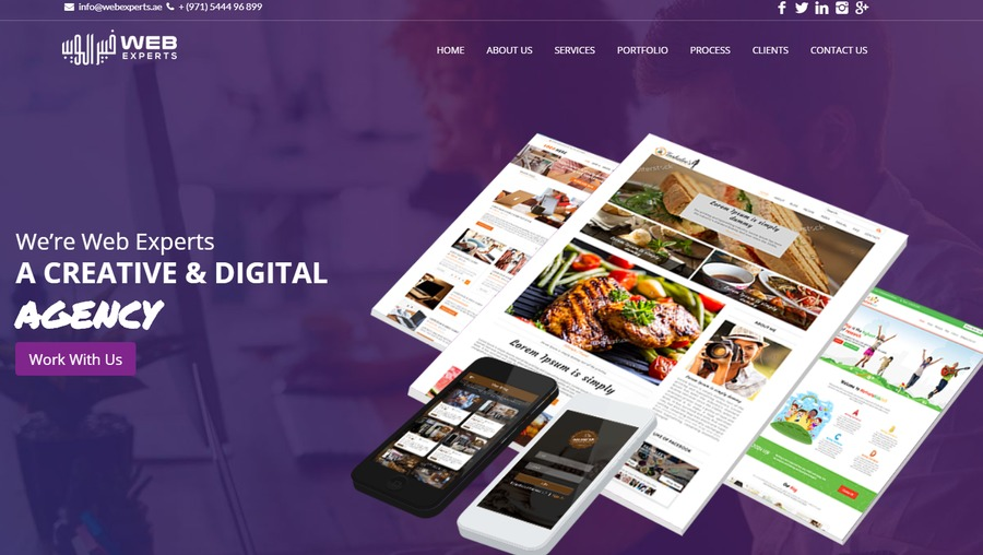 A great web design by Web Experts, Sharja, United Arab Emirates: