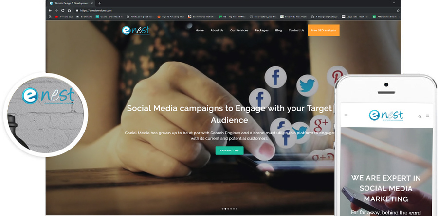 A great web design by eNest Services, Delhi, India: Other