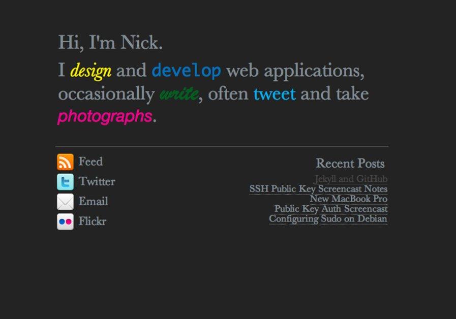 A great web design by Nick Charlton, Plymouth, United Kingdom: