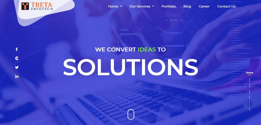A great web design by Treta Infotech, Surat, India:
