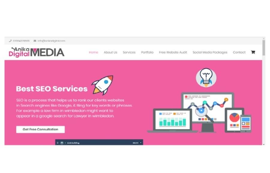 A great web design by Anika Digital Media, Walesby, United Kingdom: