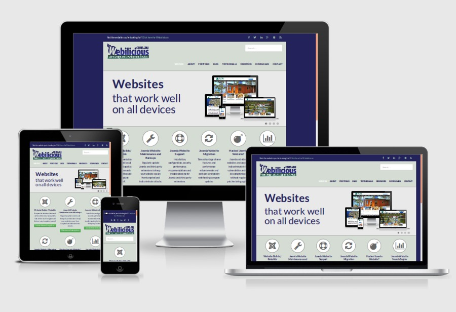 A great web design by Webilicious Web Design and Development, Nubeena, Australia: Responsive Website, Portfolio , Internet , Joomla