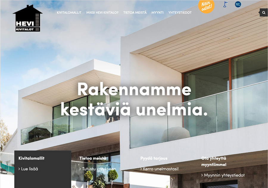 A great web design by Maene Oy, Helsinki, Finland: Responsive Website, Marketing Website , Real Estate , Wordpress