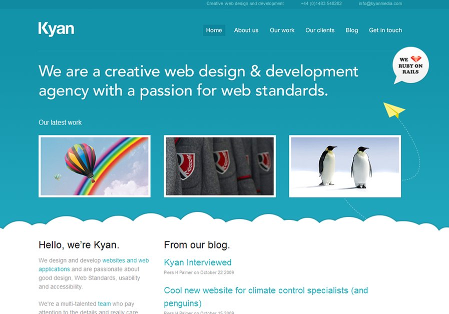 A great web design by Kyan, Guildford, United Kingdom: