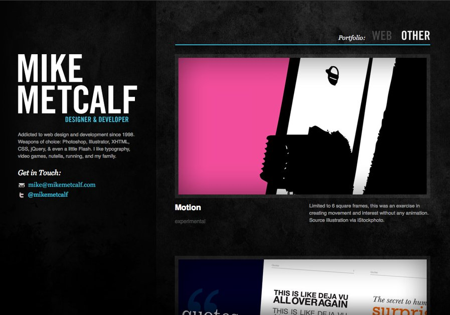 A great web design by Mike Metcalf, Ogden, UT: