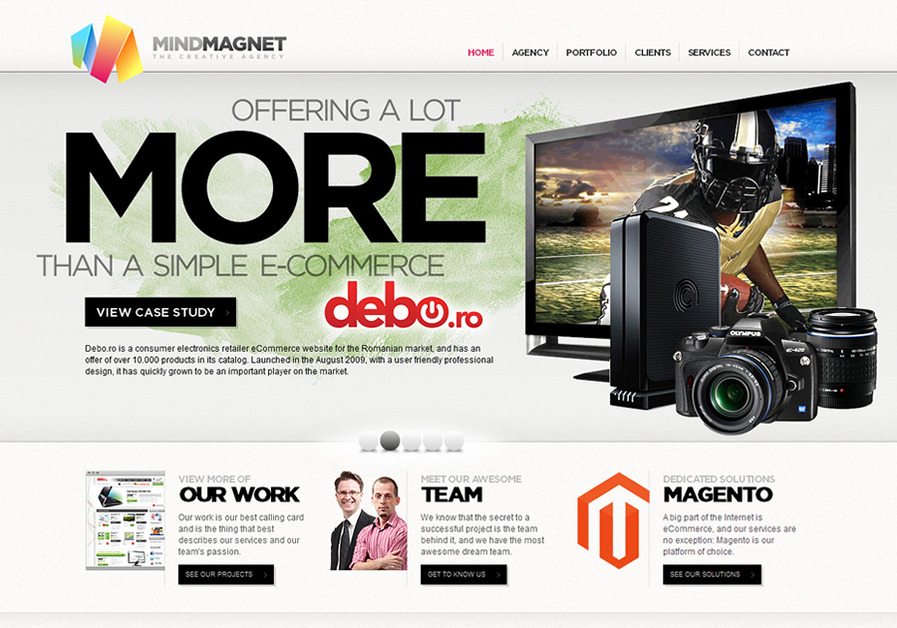 A great web design by MindMagnet, Cluj, Romania: