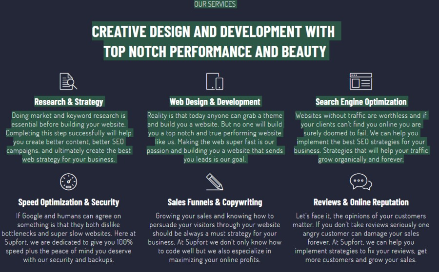 A great web design by Supfort Web Design- SEO and Development, Fort Worth, TX: