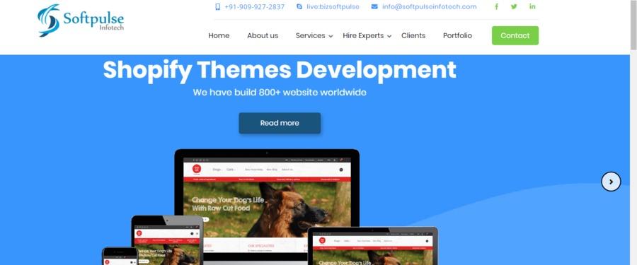 A great web design by Softpulse Infotech, Surat, India: