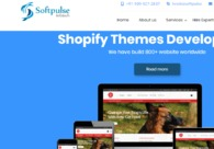 A great web design by Softpulse Infotech, Surat, India: